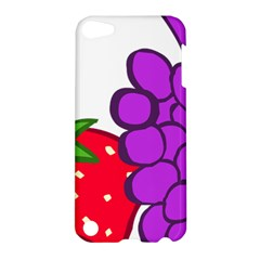 Fruit Grapes Strawberries Red Green Purple Apple iPod Touch 5 Hardshell Case