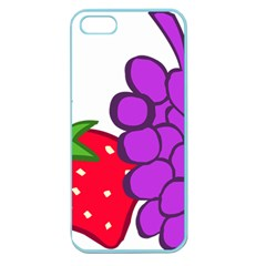 Fruit Grapes Strawberries Red Green Purple Apple Seamless iPhone 5 Case (Color)