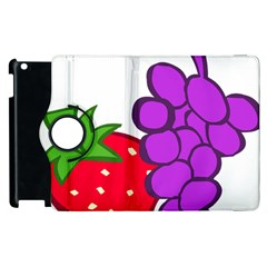 Fruit Grapes Strawberries Red Green Purple Apple iPad 3/4 Flip 360 Case