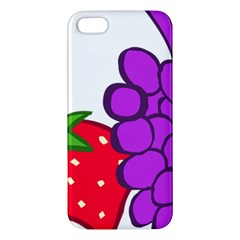 Fruit Grapes Strawberries Red Green Purple Apple iPhone 5 Premium Hardshell Case