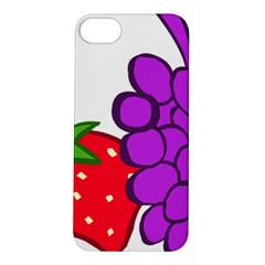 Fruit Grapes Strawberries Red Green Purple Apple iPhone 5S/ SE Hardshell Case