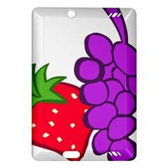 Fruit Grapes Strawberries Red Green Purple Amazon Kindle Fire HD (2013) Hardshell Case