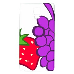 Fruit Grapes Strawberries Red Green Purple Galaxy Note 4 Back Case