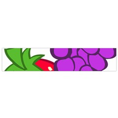 Fruit Grapes Strawberries Red Green Purple Flano Scarf (small)