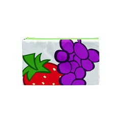 Fruit Grapes Strawberries Red Green Purple Cosmetic Bag (XS)