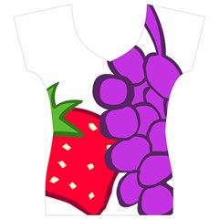 Fruit Grapes Strawberries Red Green Purple Women s V-Neck Cap Sleeve Top