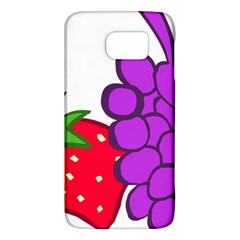 Fruit Grapes Strawberries Red Green Purple Galaxy S6
