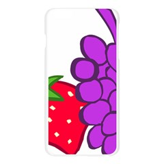 Fruit Grapes Strawberries Red Green Purple Apple Seamless iPhone 6 Plus/6S Plus Case (Transparent)