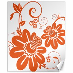 Floral Rose Orange Flower Canvas 16  x 20