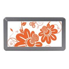 Floral Rose Orange Flower Memory Card Reader (Mini)
