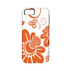 Floral Rose Orange Flower Apple iPhone 5 Classic Hardshell Case (PC+Silicone)