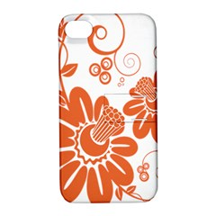 Floral Rose Orange Flower Apple iPhone 4/4S Hardshell Case with Stand