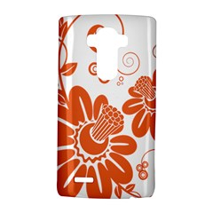 Floral Rose Orange Flower LG G4 Hardshell Case
