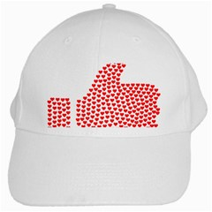 Heart Love Valentines Day Red Sign White Cap