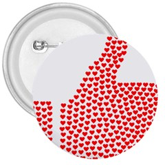 Heart Love Valentines Day Red Sign 3  Buttons