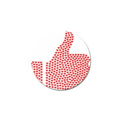 Heart Love Valentines Day Red Sign Golf Ball Marker