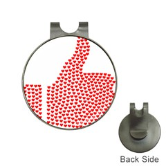 Heart Love Valentines Day Red Sign Hat Clips with Golf Markers