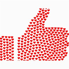 Heart Love Valentines Day Red Sign Canvas 18  X 24