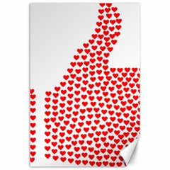 Heart Love Valentines Day Red Sign Canvas 24  x 36