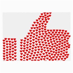 Heart Love Valentines Day Red Sign Large Glasses Cloth