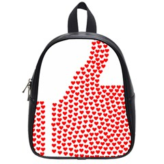 Heart Love Valentines Day Red Sign School Bags (Small)