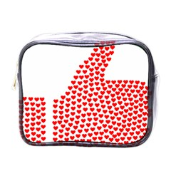Heart Love Valentines Day Red Sign Mini Toiletries Bags