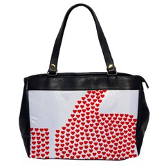 Heart Love Valentines Day Red Sign Office Handbags