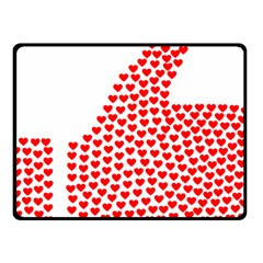 Heart Love Valentines Day Red Sign Fleece Blanket (Small)