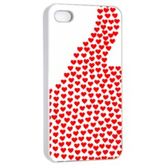 Heart Love Valentines Day Red Sign Apple iPhone 4/4s Seamless Case (White)