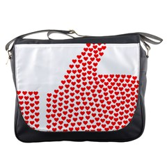 Heart Love Valentines Day Red Sign Messenger Bags