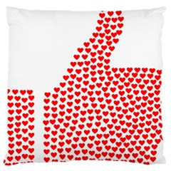 Heart Love Valentines Day Red Sign Large Cushion Case (One Side)