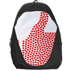 Heart Love Valentines Day Red Sign Backpack Bag