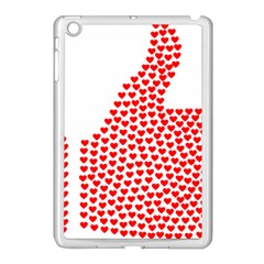 Heart Love Valentines Day Red Sign Apple iPad Mini Case (White)