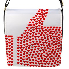 Heart Love Valentines Day Red Sign Flap Messenger Bag (s)