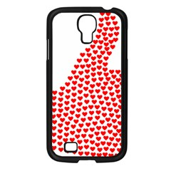 Heart Love Valentines Day Red Sign Samsung Galaxy S4 I9500/ I9505 Case (Black)