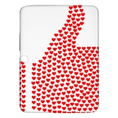 Heart Love Valentines Day Red Sign Samsung Galaxy Tab 3 (10.1 ) P5200 Hardshell Case