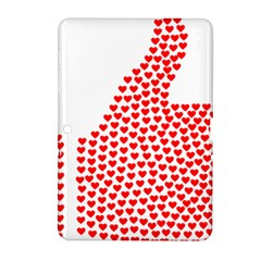 Heart Love Valentines Day Red Sign Samsung Galaxy Tab 2 (10.1 ) P5100 Hardshell Case