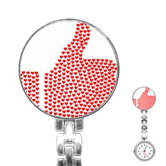 Heart Love Valentines Day Red Sign Stainless Steel Nurses Watch