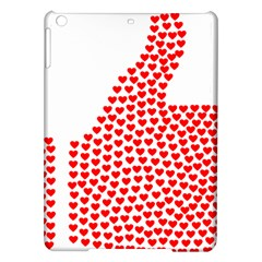Heart Love Valentines Day Red Sign iPad Air Hardshell Cases