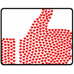 Heart Love Valentines Day Red Sign Double Sided Fleece Blanket (Medium)