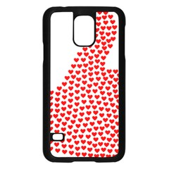 Heart Love Valentines Day Red Sign Samsung Galaxy S5 Case (Black)