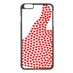 Heart Love Valentines Day Red Sign Apple iPhone 6 Plus/6S Plus Black Enamel Case