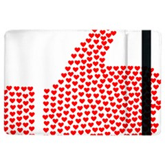Heart Love Valentines Day Red Sign iPad Air 2 Flip