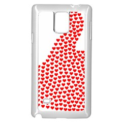 Heart Love Valentines Day Red Sign Samsung Galaxy Note 4 Case (White)