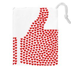 Heart Love Valentines Day Red Sign Drawstring Pouches (XXL)