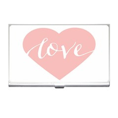 Love Valentines Heart Pink Business Card Holders