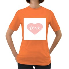 Love Valentines Heart Pink Women s Dark T-Shirt