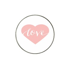 Love Valentines Heart Pink Hat Clip Ball Marker (4 Pack)