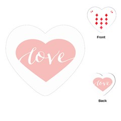 Love Valentines Heart Pink Playing Cards (Heart)