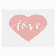 Love Valentines Heart Pink Large Glasses Cloth